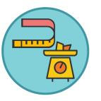 Size and weight Icon